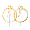 Tahiti | Gold Pearl Dangle Earrings