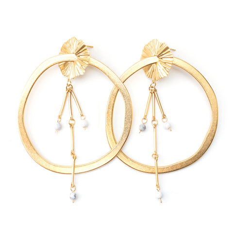 Nebula | Gold Starburst Earrings