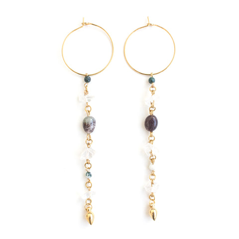 Crow | Gold Dangle Earrings
