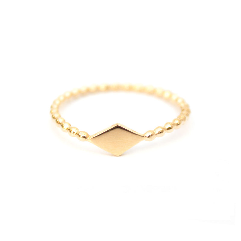 Kite | Gold Vermeil Diamond Shape Ring