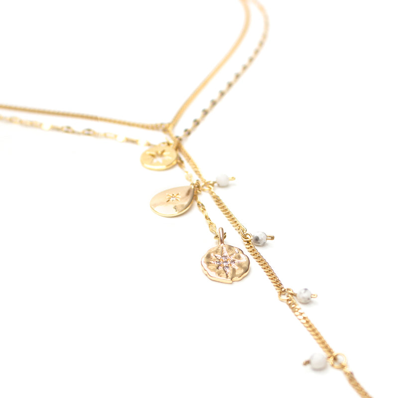 Necklaces - Luvia - Gold • wellDunn jewelry — Handmade in Montreal