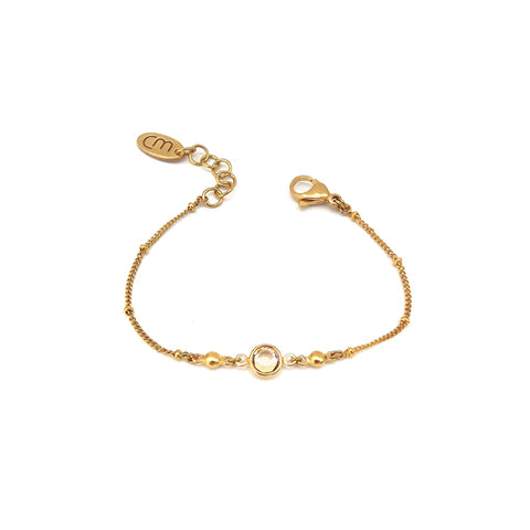 Starlight | Gold Star Crystal Hoop Earrings