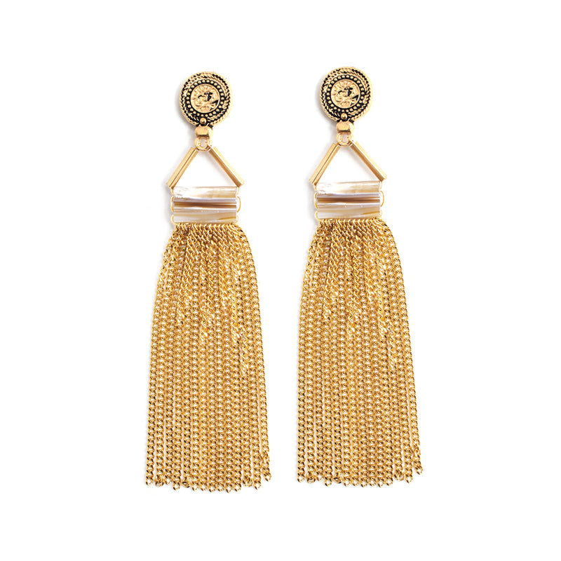 Earrings - Maille - Gold • wellDunn jewelry — Handmade in Montreal
