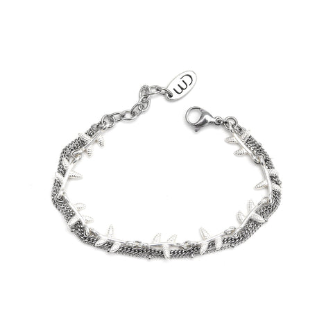 Juan | Silver Coin & Links Bracelet