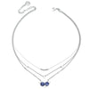 Astral | Silver Layered Choker Necklace