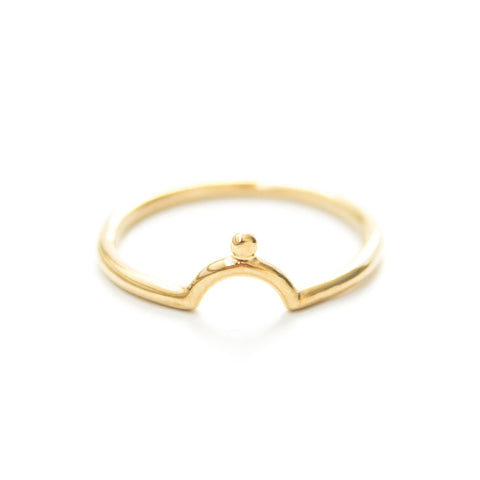 Alexe | Gold Vermeil X Ring
