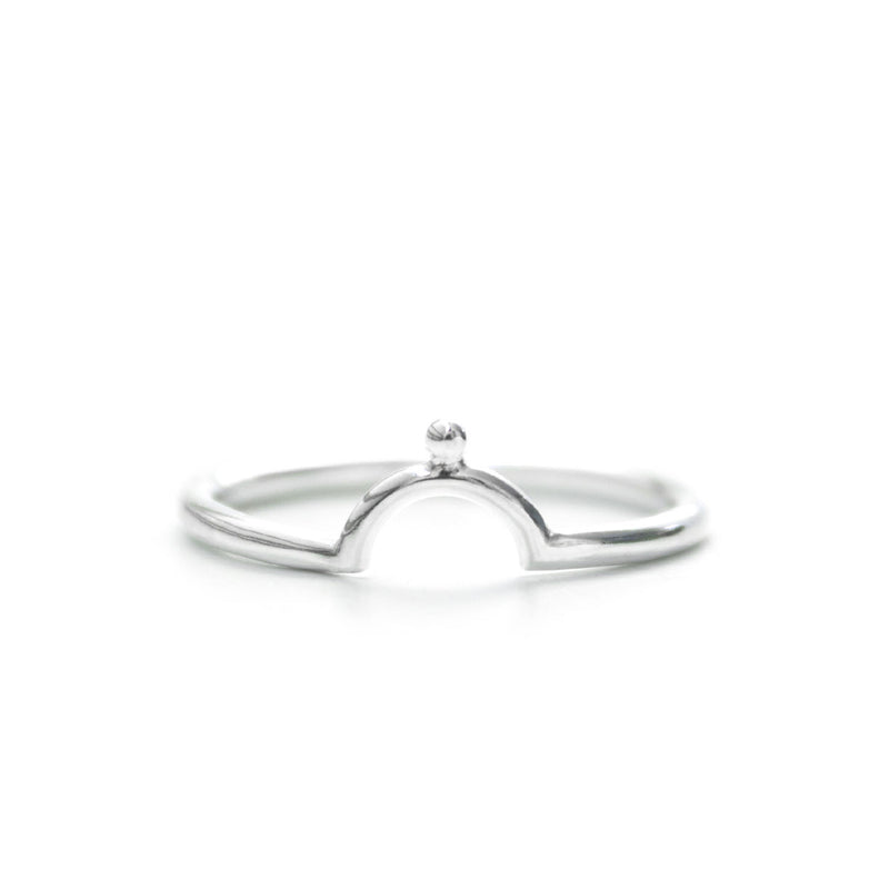 Omega | Sterling Silver Horseshoe Beaded Ring
