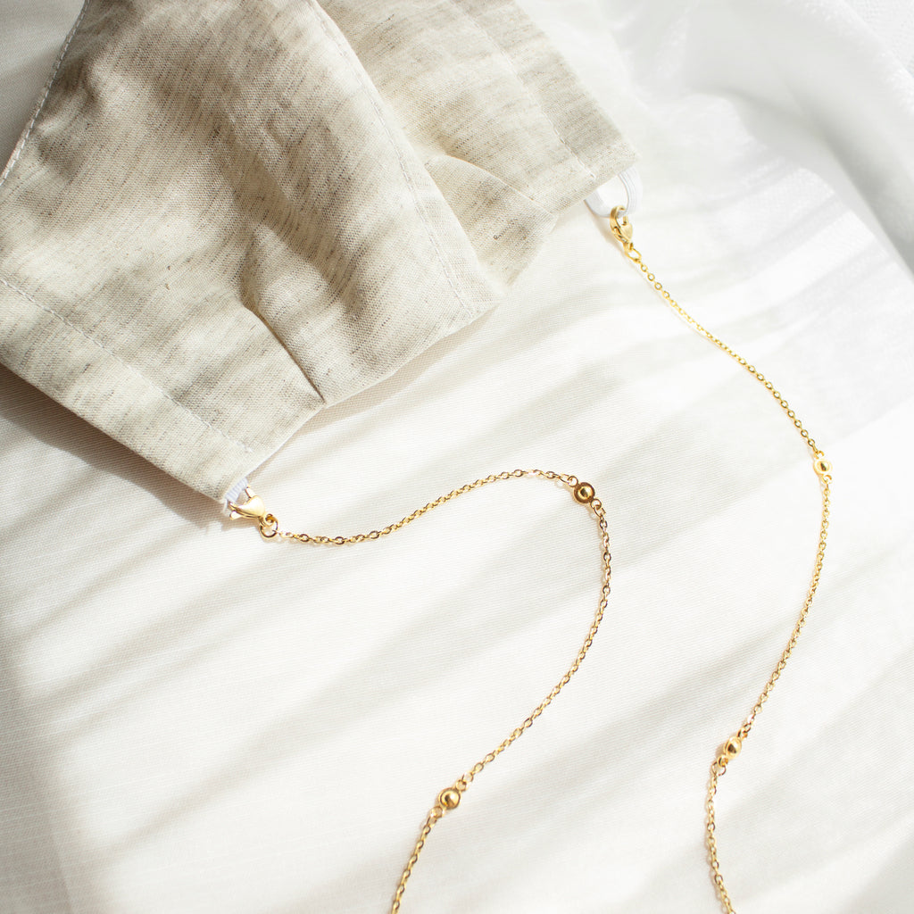 Osiris | Gold Mask Chain & Linen Mask Set