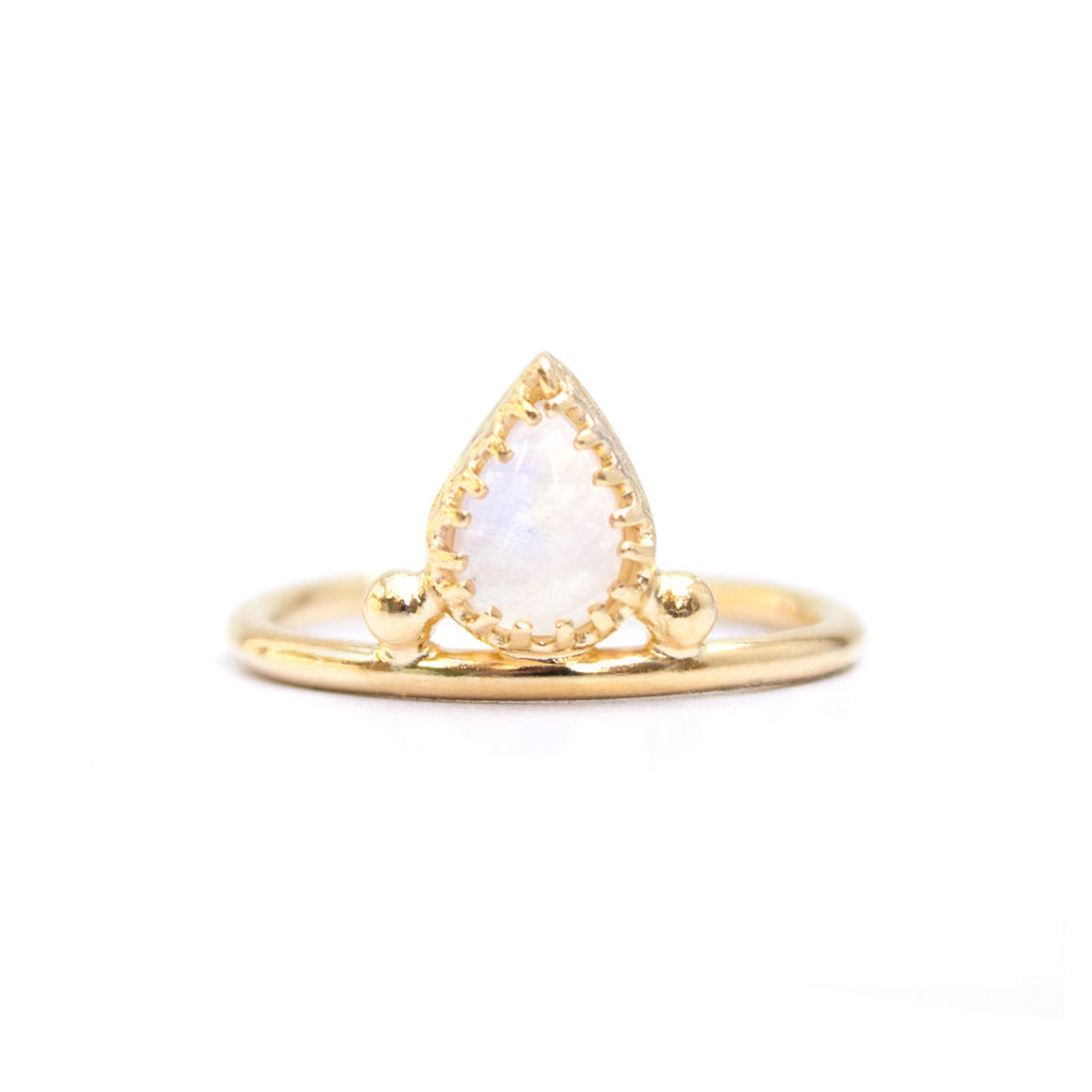 Pera | Moonstone Ring — Gold Vermeil