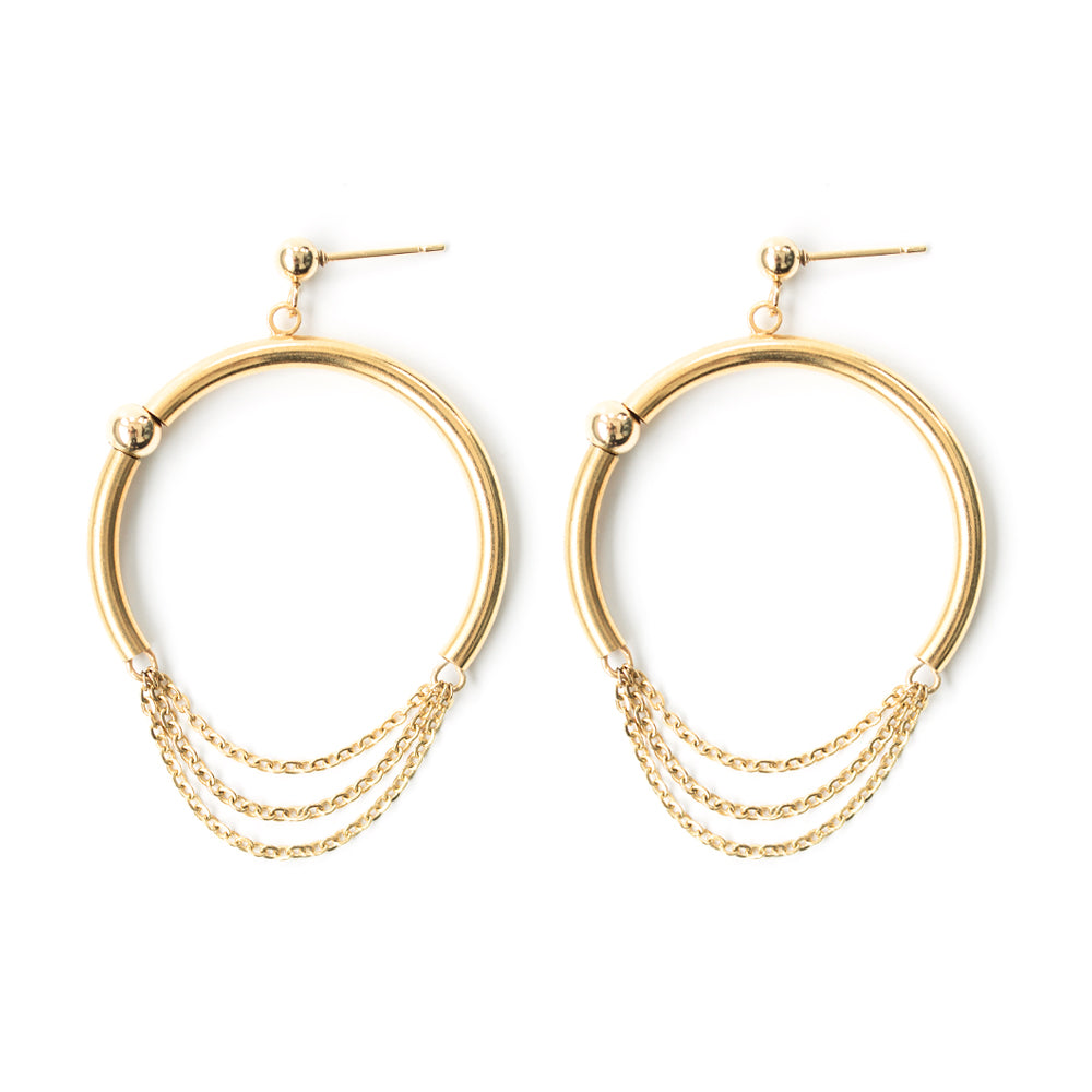 Pierce | Gold Half Hoop Earrings