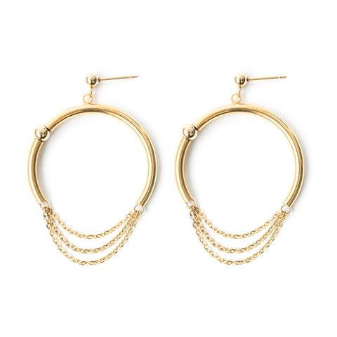 Twist | Gold Twisted Hoop Earrings