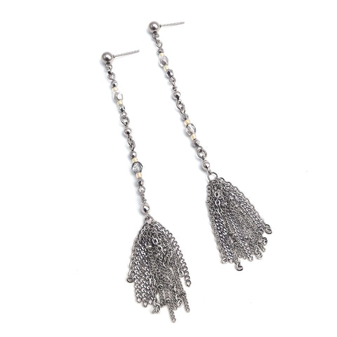 Navi | Silver Short Earrings