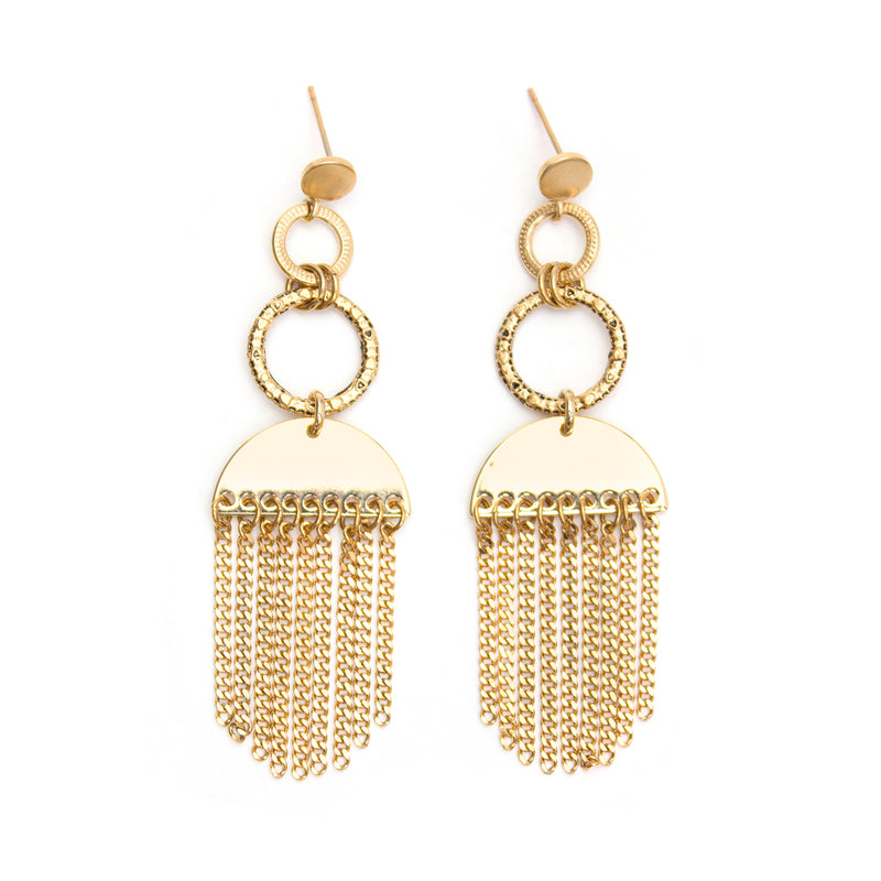 Earrings - Psyche - Gold • wellDunn jewelry — Handmade in Montreal