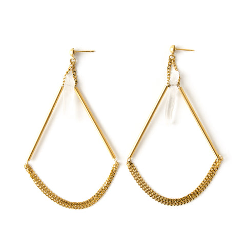 Coralie | Gold Hoop Earrings
