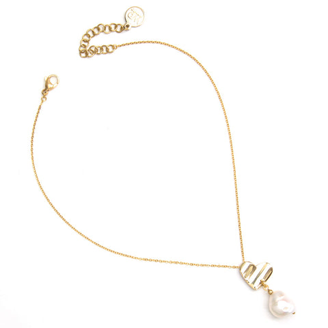 Grigri | Gold Long Crystal Necklace