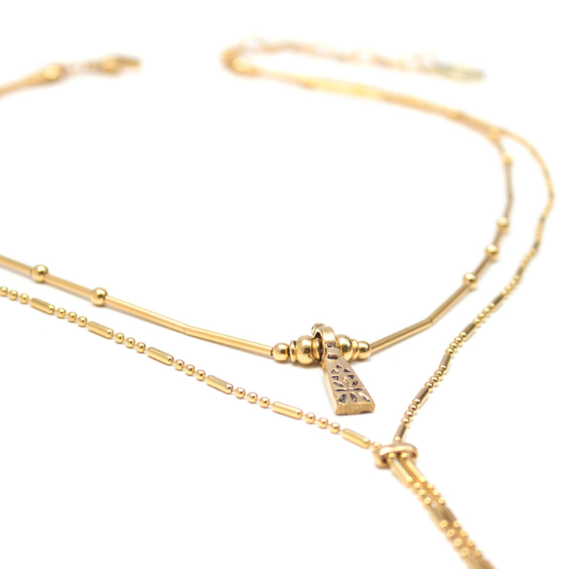 Necklaces - Sage - Gold • wellDunn jewelry — Handmade in Montreal