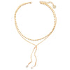 Axelle | Gold Short Bar Necklace