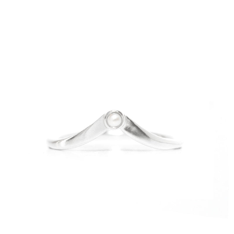 Scarlet | V Ring — Sterling Silver
