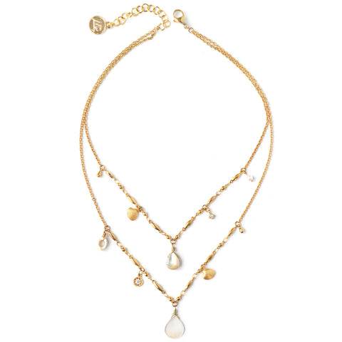 Christine | Duo Colliers Lariat Cristaux Argent