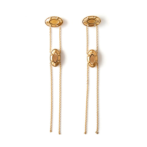 Swan | Gold Totem Earrings