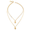 Romeo | Gold Heart Pearl Necklace