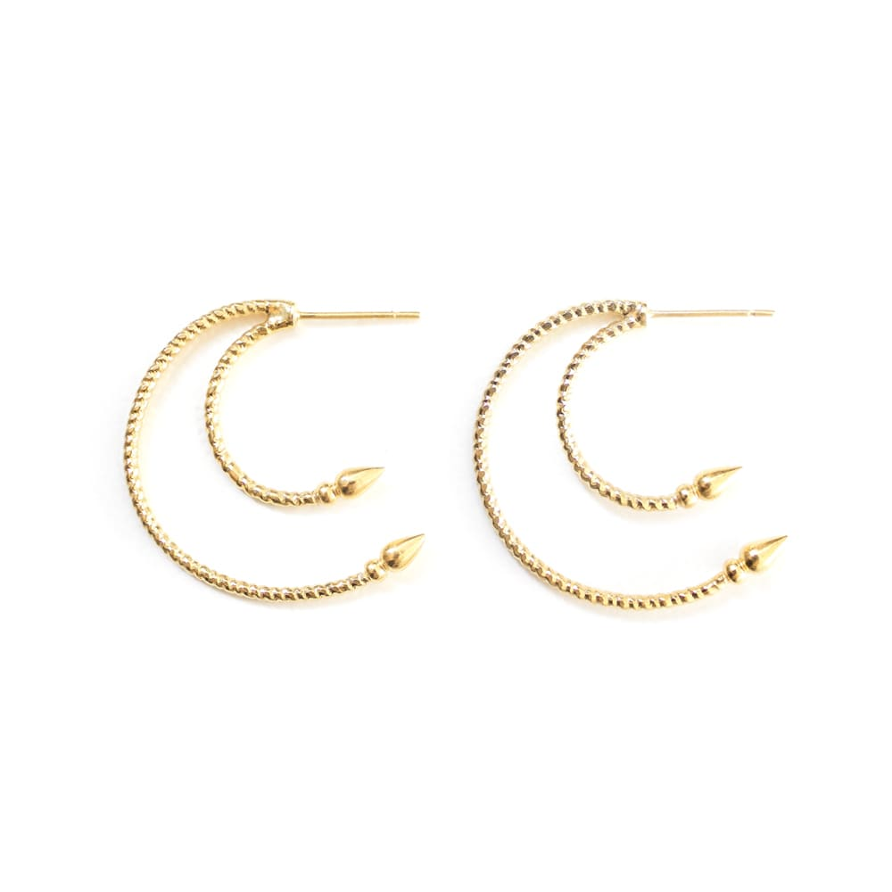 Venus | Gold Half-Moon Hoops