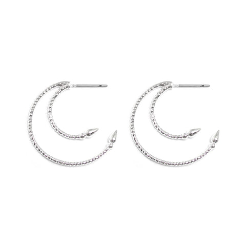 Starlight | Silver Star Crystal Hoop Earrings