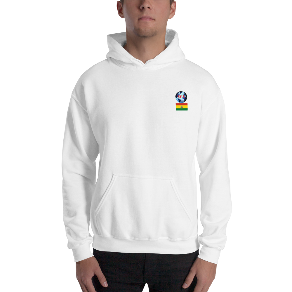 BOLIVIA Travellers Logo....Hooded Sweatshirt