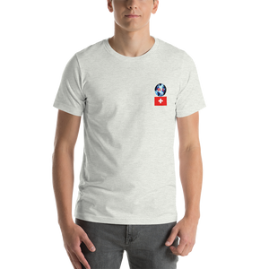 SWITZERLAND Travellers Logo....Short-Sleeve..... Unisex.... T-Shirt
