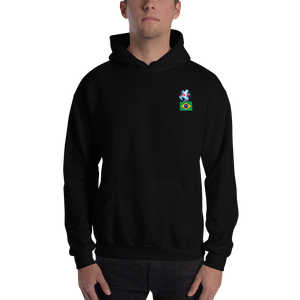 BRAZIL Travellers Logo....Hooded Sweatshirt