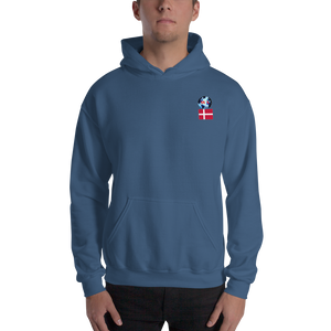 DENMARK Travellers Logo....Hooded Sweatshirt