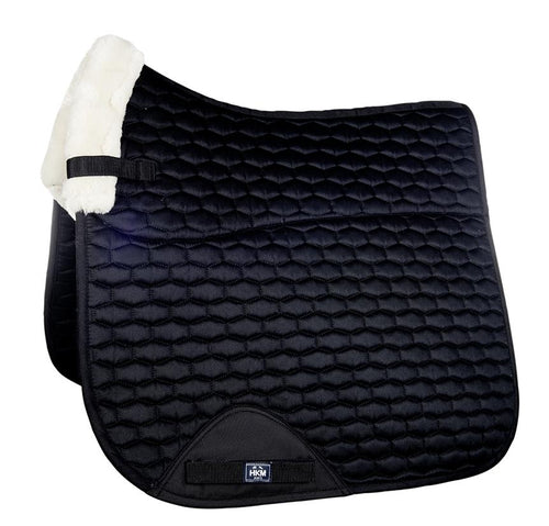 Synthetic wool saddle pad