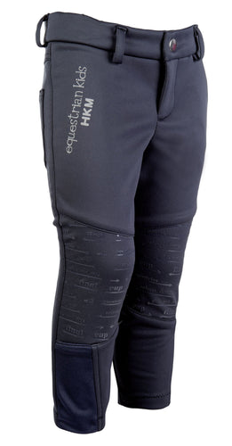 Softshell riding breeches -Unisex- sil. knee patch