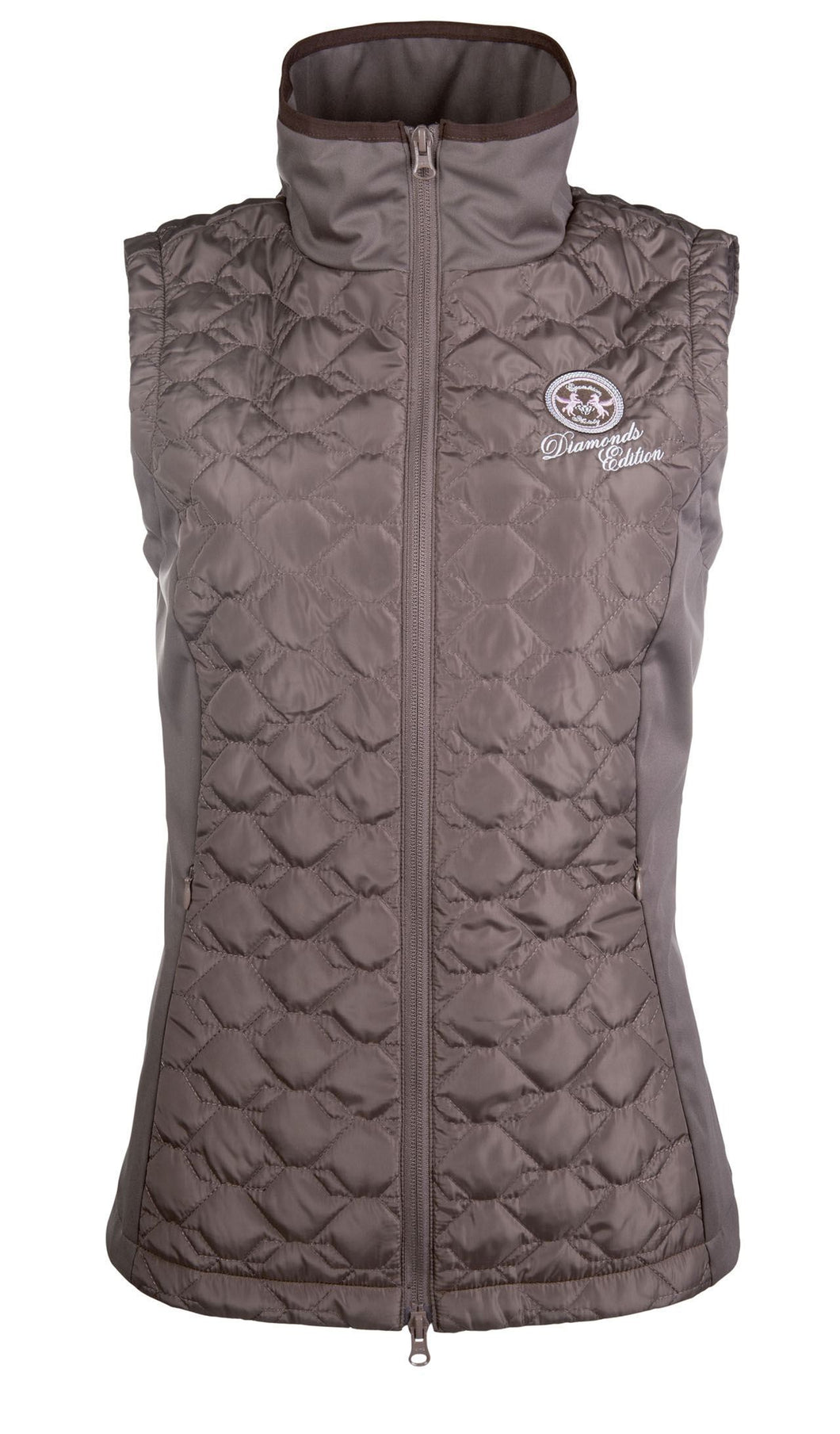 Riding vest -Diamonds Milky-