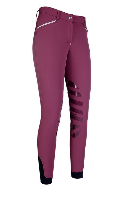 Softshell riding breeches -Norway- sil. knee patch