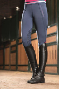 Riding leggings -Active 19- silicone knee patch