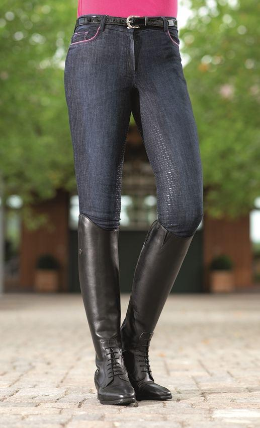 Riding breeches -Active 19 Denim- s. full seat