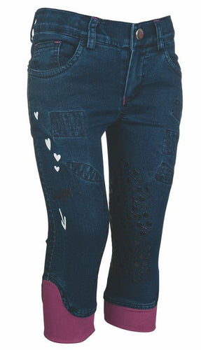Riding breeches -Piccola Denim-silicone knee patch