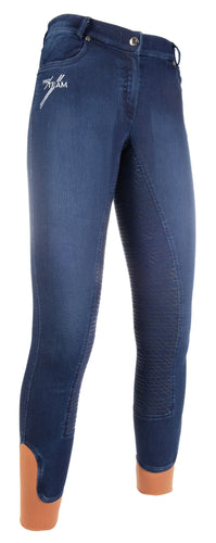 Riding breeches -Hickstead Jeggings-sil. full seat