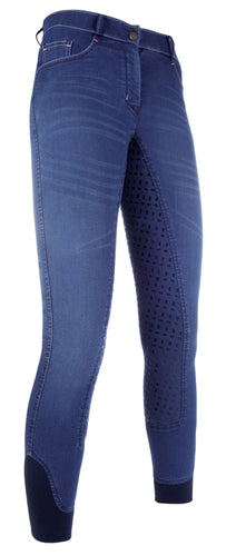 Riding breeches -Summer Denim Easy- 3/4 silicone