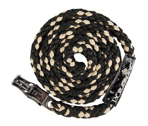 Lead rope with panic hook -Pompöös Goldenline-