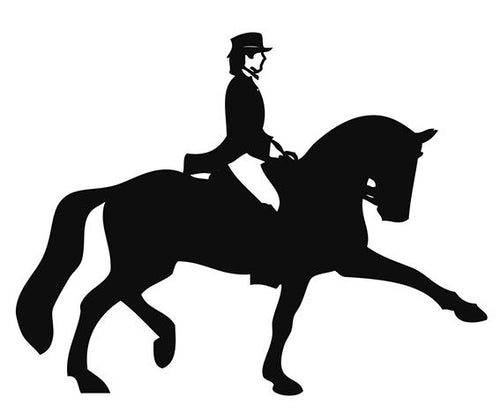 Car sticker -dressage rider 2- (Set of 5)
