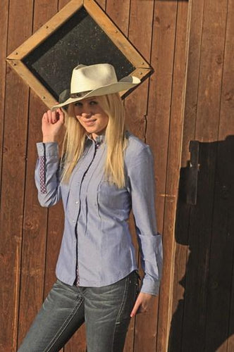 Western blouse -Denim-
