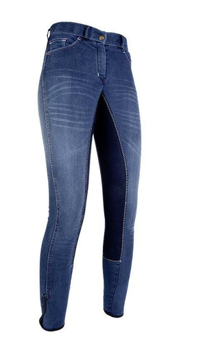 Riding breeches -Summer Denim- with 3/4 Alos seat
