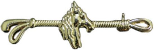 Stock pin gold -horse's head-