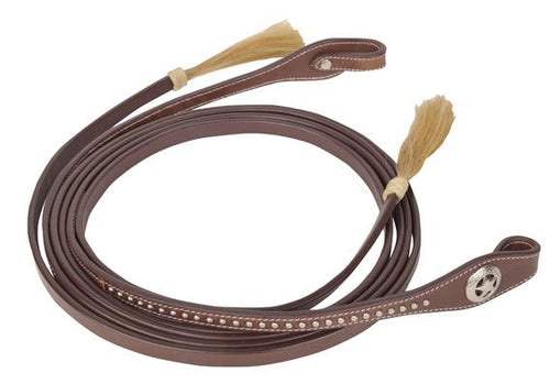Reins -Dots- with horse hair tassel