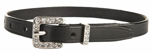 Spur straps leather with crystal closure 1 pair