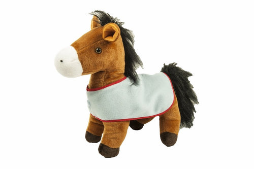 Big Soft Horse-standing with blanket (Set of 3)