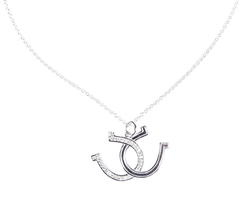 Necklace with pendant -Horse Shoe-