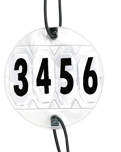 Adjustable competition show numbers (pair)